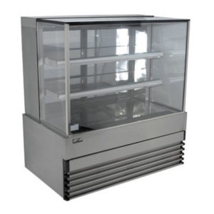 Koldtech KT.SQRCD.12 Square Glass Refrigerated Cake Display 3 Fixed Shelves – 1200mm