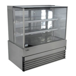 Koldtech KT.SQRCD.18 Square Glass Refrigerated Cake Display 3 Fixed Shelves – 1800mm