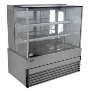 Koldtech KT.SQRCD.20.4T Square Glass Refrigerated Cake Display 4 Fixed Shelves – 2000mm