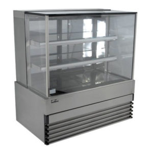 Koldtech KT.SQRCD.9 Square Glass Refrigerated Cake Display 3 Fixed Shelves – 900mm