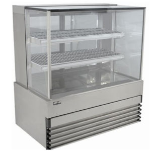 Koldtech KT.SQHCD.9 Square Glass Heated Food Display Cabinet – 900mm