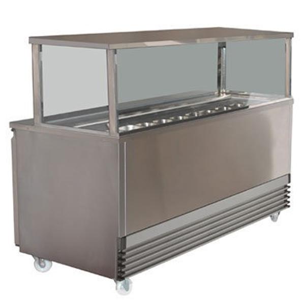 Koldtech KT.SQSM.1330 Square Glass Sandwich Bar - 1330mm