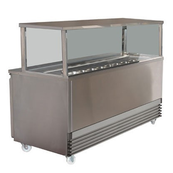 Koldtech KT.SQSM.2286 Square Glass Sandwich Bar - 2286mm
