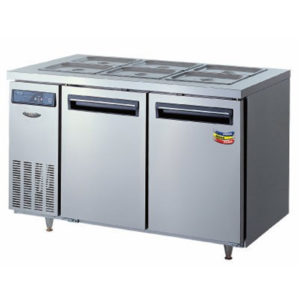 Lassele LTB-1271PC Two Solid Door Under Bench Fridge W/Topping Unit – 1200mm