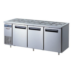 Lassele LNRT-3B-1800 Two Solid Door Under Bench Fridge W/Topping Unit – 1800mm
