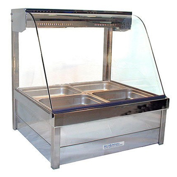 Roband C23-RD Curved Glass Hot Food Bar - 1030mm
