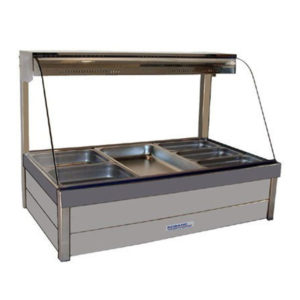 Roband C23/RD Curved Glass Hot Food Bar – 1030mm