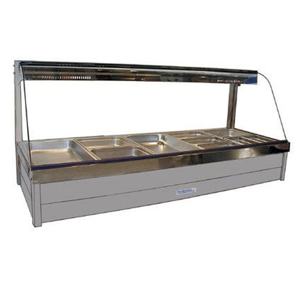 Roband C25 Rd Curved Glass Hot Food Bar 1680mm