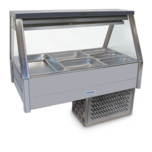 Roband ERX23RD Straight Glass Food Bar – Refrigerated Cold Plate & Cross Fin Coil