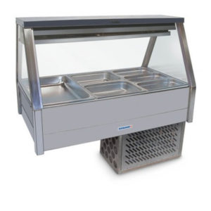 Roband ERX25RD Straight Glass Food Bar – Refrigerated Cold Plate & Cross Fin Coil