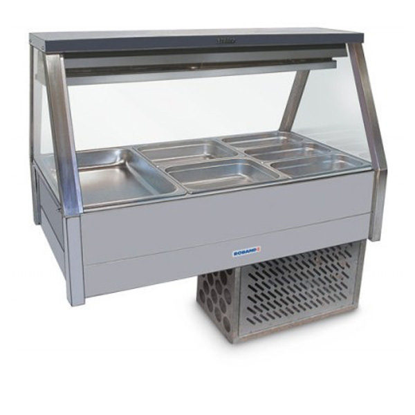 Roband ERX26RD Straight Glass Food Bar – Refrigerated Cold Plate & Cross Fin Coil