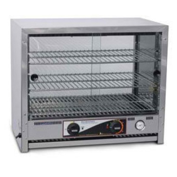 Roband Pa80l 80 Capacity Square Top Pie And Food Warmers