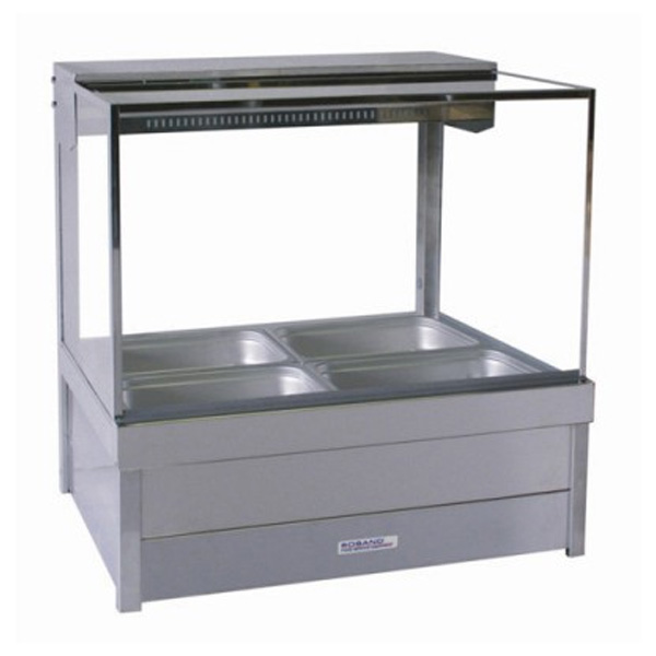 Roband S22/S22RD Square Glass Hot Food Display Bars