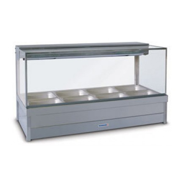 Roband S24/S24RD Square Glass Hot Food Display Bars