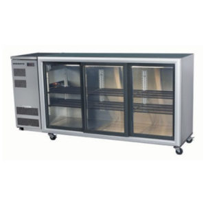 Skope BB580 3SL BackBar Series Three Sliding Doors Bench Fridge – 2060mm