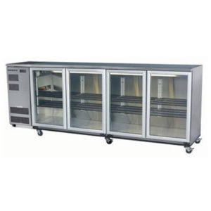 Skope BB780 4SW BackBar Series Four Swing Doors Bench Fridge – 2620mm