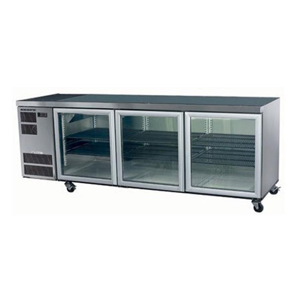 Skope CL600 Counterline Series Three Door Bench Fridge - 2210mm