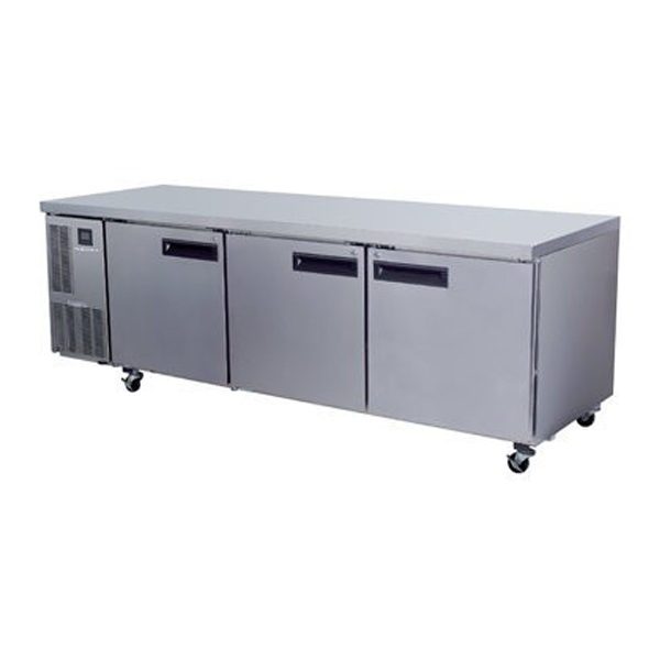Skope PG800HC Pegasus Horizontal 2/1 Series Three Doors Bench Fridge - 2435mm