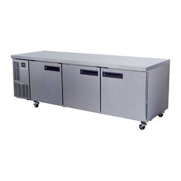 Skope PG800HC Pegasus Horizontal 2/1 Series Three Doors Bench Fridge - 2435mm
