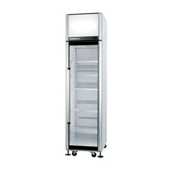 Skope SK500-3 Single Glass Door Upright Chiller - 445 Litre