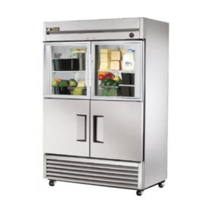 True Food International T-49-2-G-2 Reach-In Combination Half Swing Door Storage Fridge – 1388 Litre (Showroom Model)