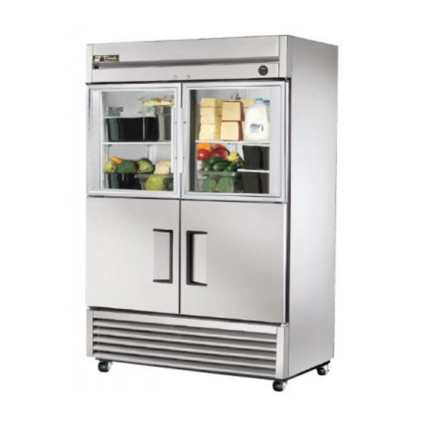 True Food International T-49-2-G-2 Reach-In Combination Half Swing Door Storage Fridge - 1388 Litre