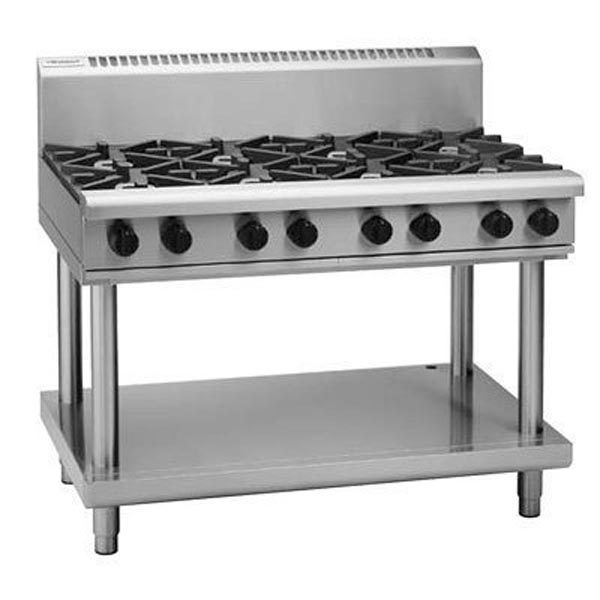 Waldorf RN8800G-LS 1200mm - 8 Burner - Gas Cooktop - Leg Stand