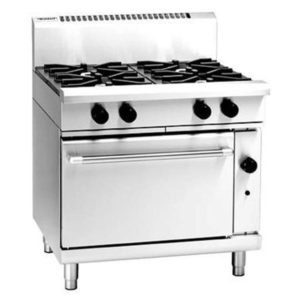 Waldorf 900mm 4 Burner Gas Range – Static Oven RN8910G