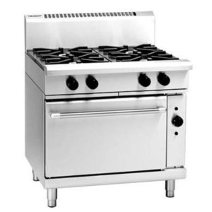 Waldorf 900mm 4 Burner Gas Range – Electric Convection Oven RN8910GEC