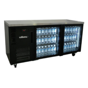 Williams HBS2UGDCBB 2-Door Back Bar Chiller