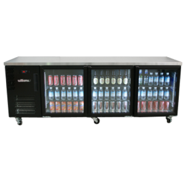 Williams HBS3UGDCBB 3-Door Back Bar Chiller