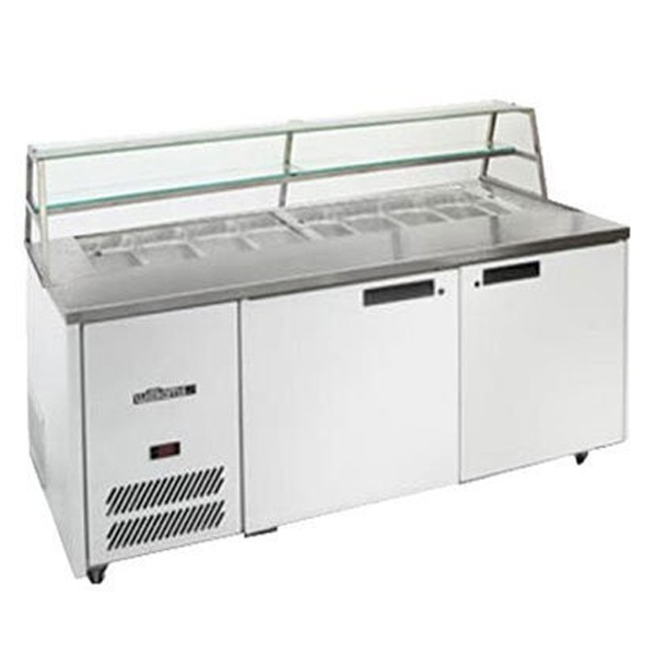 Williams Jade 500L White Colourbond Sandwich & Prep Counter w/ Canopy