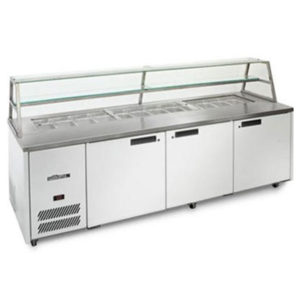 Williams Jade 775L White Colourbond Sandwich & Prep Counter W/ Canopy