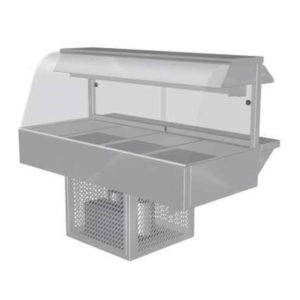 Woodson W.CFC24 Cold Food Bar – Curved Glass 1355mm