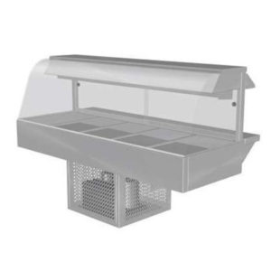 Woodson W.CFC25 Cold Food Bar – Curved Glass 1680mm