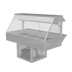 Woodson W.CFS24 Cold Food Bar – Straight Glass 1355mm