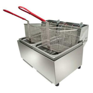 Woodson W.FRT80 Double Pan Fryer – 8 Litres