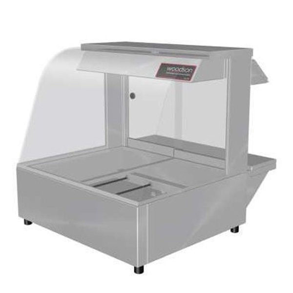 Woodson W.HFC22 Hot Food Bar - Curved Glass 705mm