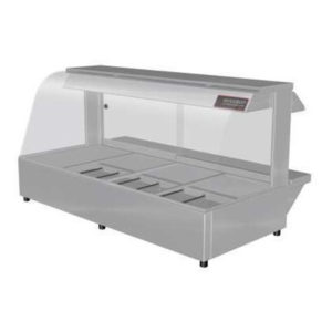 Woodson W.HFC24 Hot Food Bar – Curved Glass 1355mm