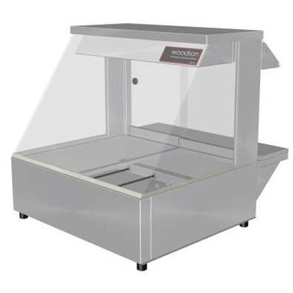 Woodson W.HFS22 Hot Food Bar - Straight Glass 705mm
