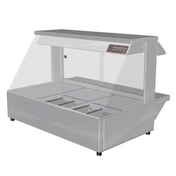 Woodson Whfs23 Hot Food Bar Straight Glass 1030mm
