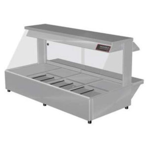 Woodson W.HFS24 Hot Food Bar – Straight Glass 1355mm