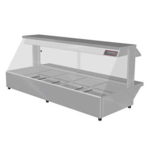 Woodson W.HFS25 Hot Food Bar – Straight Glass 1680mm