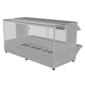 Woodson W.HFSQ24 Hot Food Bar – Straight Glass 1355mm