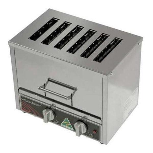 Woodson W.TOV6 Vertical Toaster 6 Slicer Capacity