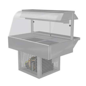 Woodson W.CFC23 Cold Food Bar – Curved Glass 1030mm