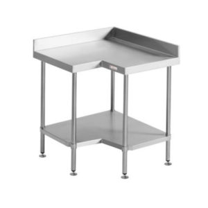 Simply Stainless SS04.0900 Corner Bench With Splashback (600 Series)