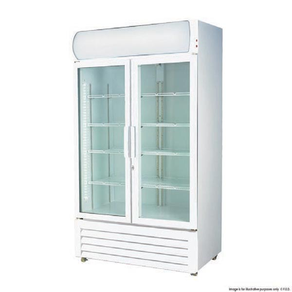 1000 Litre 2 Door Display Fridge