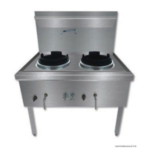 Stainless Steel Double Wok