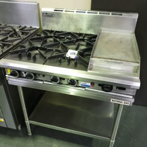 Comcater Trueheat 4 Burner 300 Flat Plate & Stand NG